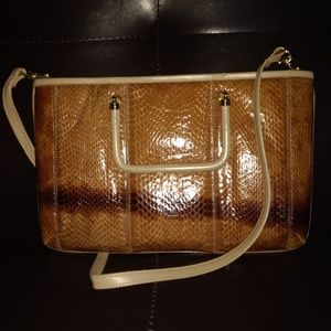 Handbags - VTG faux snakeskin hand/shoulder bag